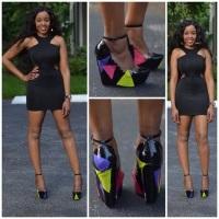Black Dress Splash of Color